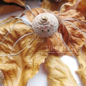 pajączek z kapelusza żołędzia - kreatywna praca techniczna dla dzieci