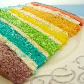 tęczowy tort urodzinowy dla dzieci