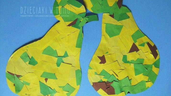 Gruszki – wyklejanka dla dzieci