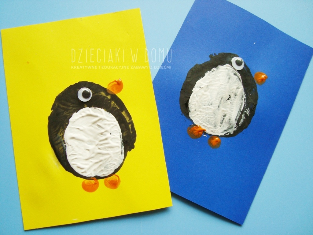 pingwinki z ziemniaka - praca plastyczna dla dzieci