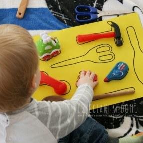 rozpoznawanie kształtów przedmiotów - zabawa dla dzieci