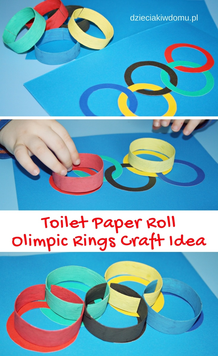 toilet paper roll olimpic rings craft idea for kids