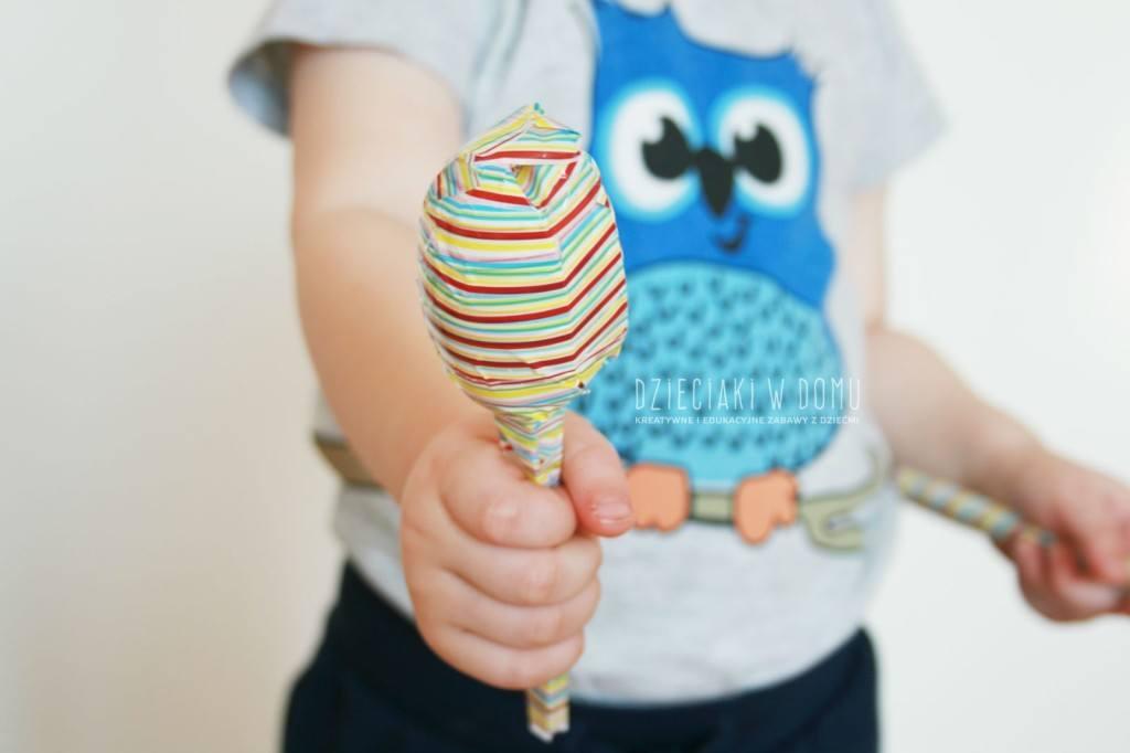 marakasy - instrument ręcznie wykonany dla dzieci