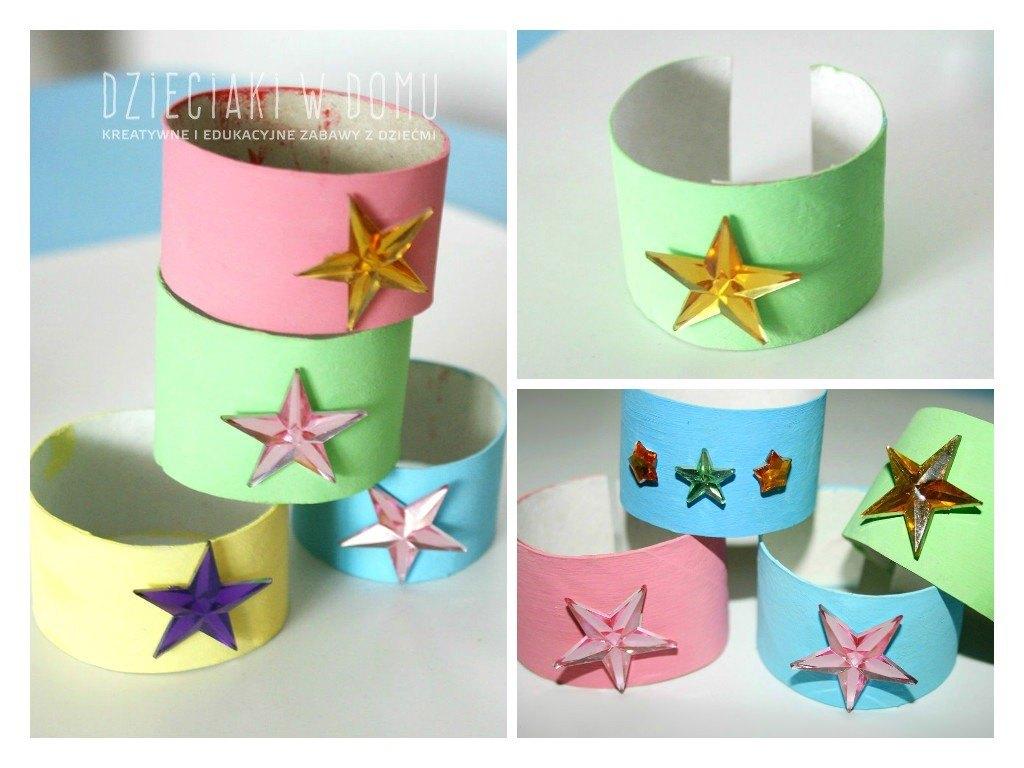 bransoletki z rolek - kreatywna praca dla dzieci