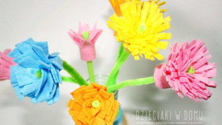 Kwiatki z kuchennych zmywaków