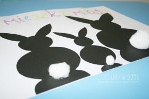 zajączki - praca plastyczna dla dzieci