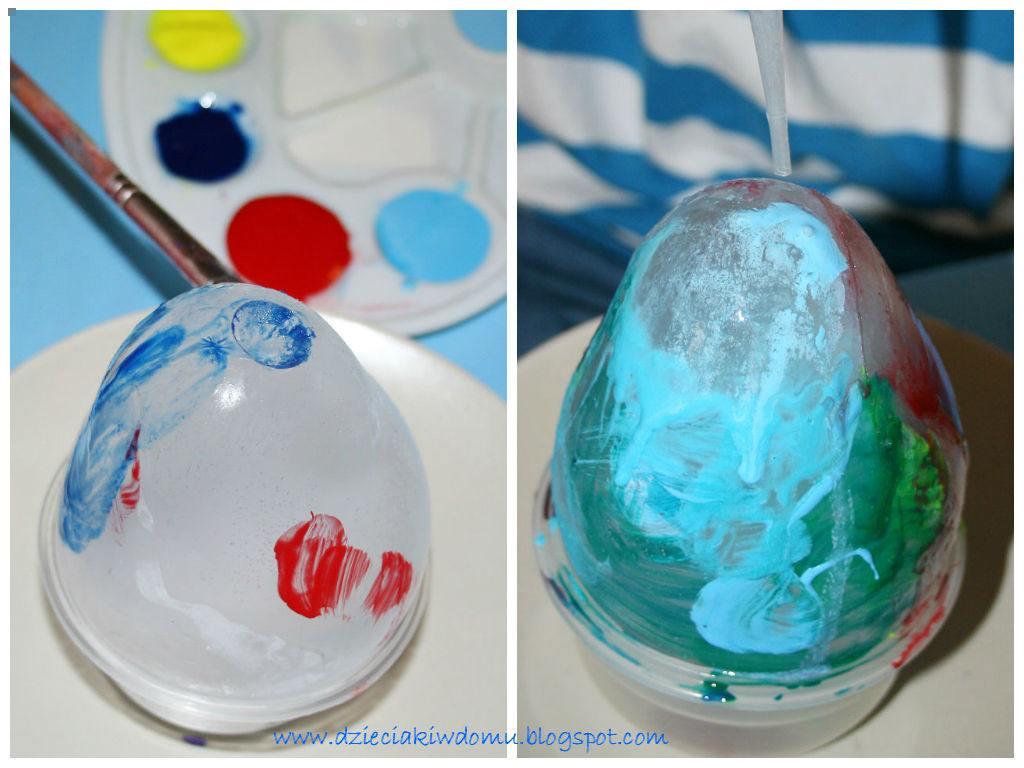 malowanie lodowych jaj - kreatywna zabawa dla dzieci