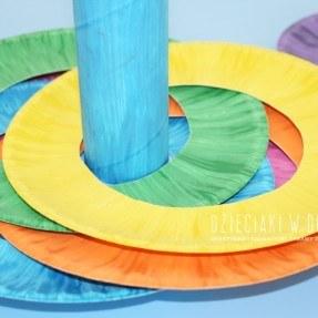 rzut do celu - kreatywna zabawa dla dzieci z papierowych talerzyków