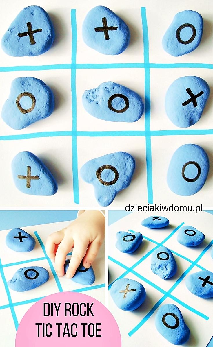 kolko i krzyzyk z kamieni - zabawa dla dzieci