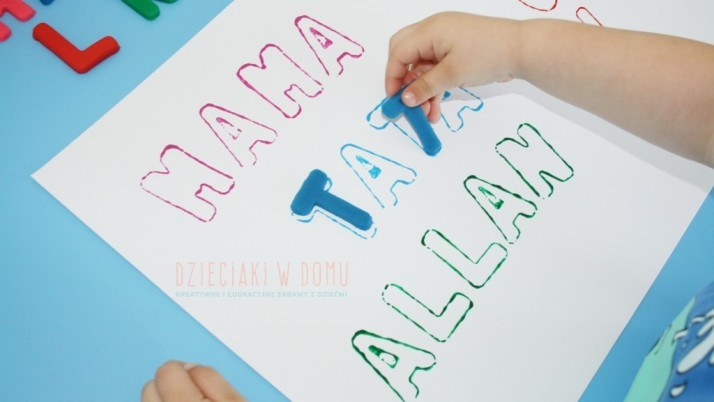 Dopasowywanie liter do ich kształtów