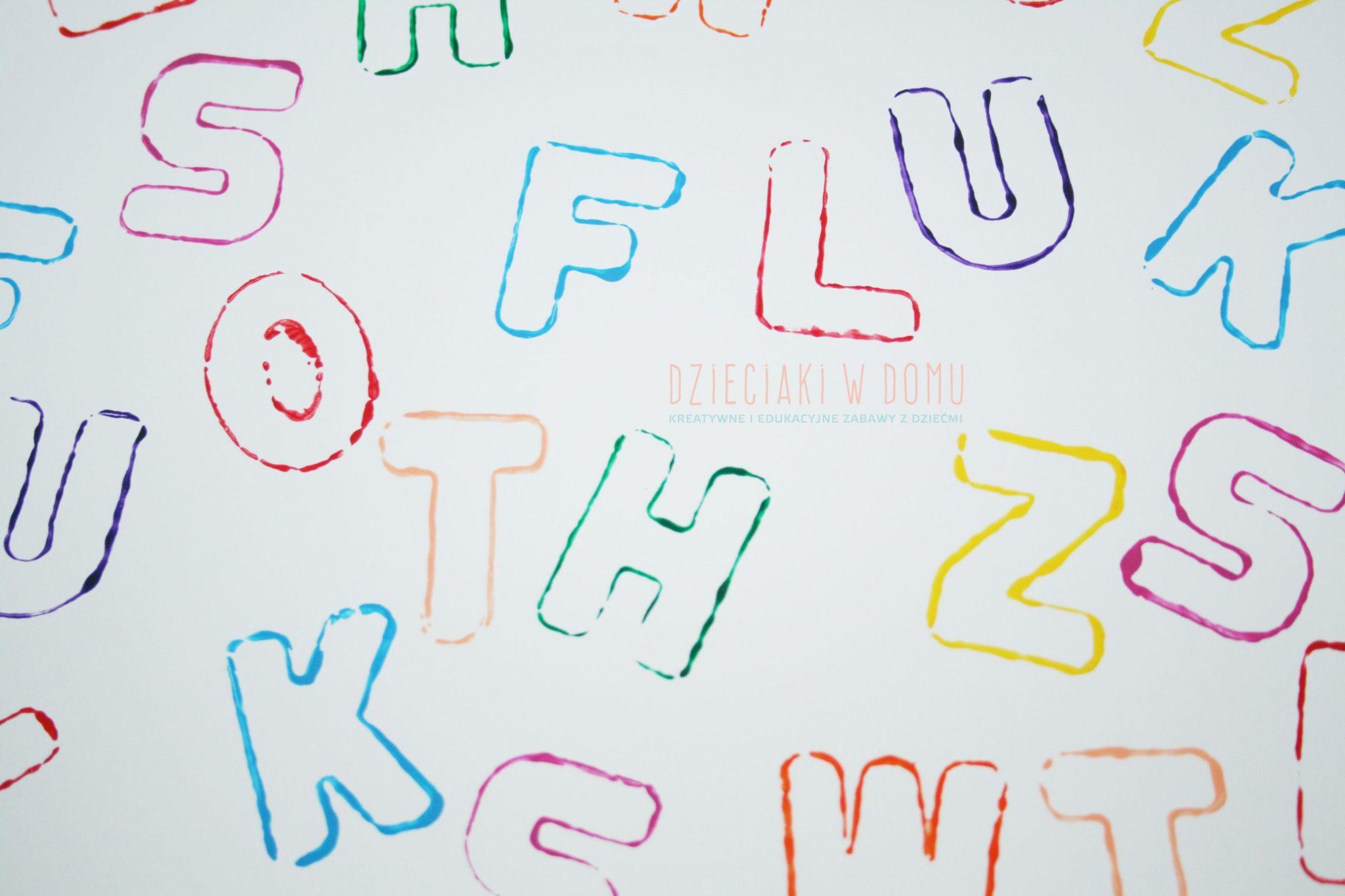 Literki stempelki - zabawa dla dzieci