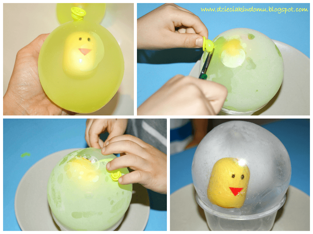 Rozpuszczanie lodowego jaja - zabawa dla dzieci na upalny dzień