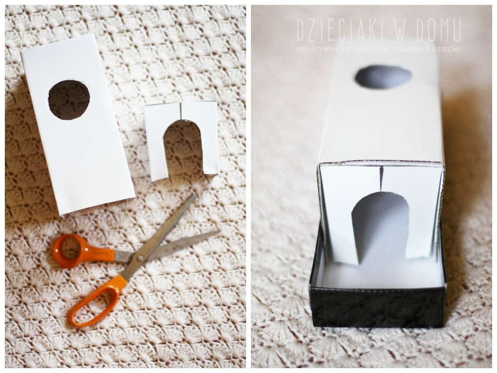 pudełko i piłeczka - zabawka dla niemowlaka