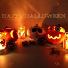 halloweenowa dekoracja z dyni