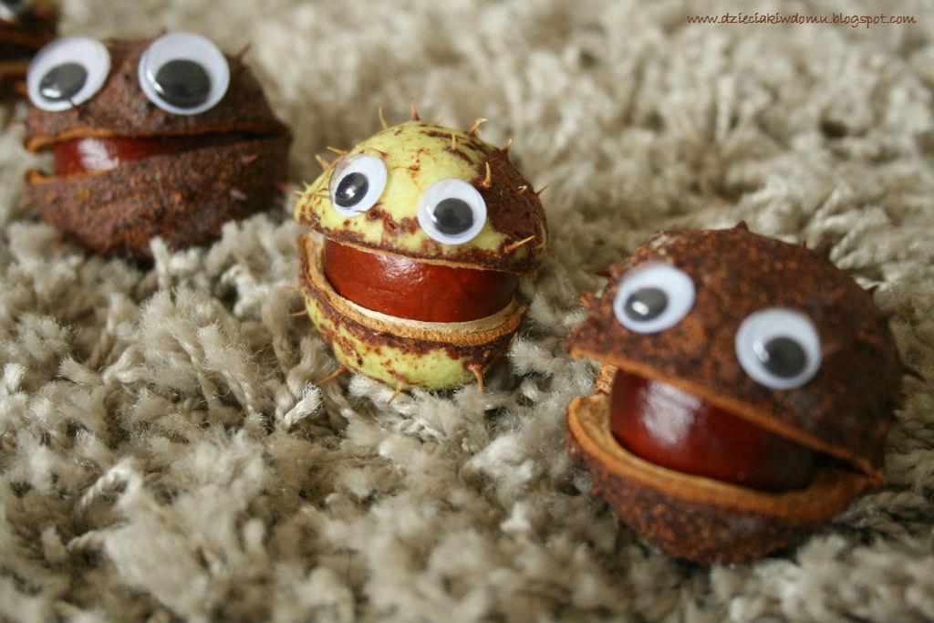 kasztanowe stworki - kreatywna zabawa dla dzieci