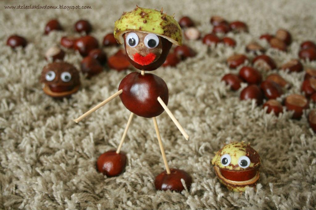 kasztanowe ludziki - kreatywna zabawa dla dzieci
