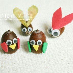 stworzonka z żołędzi - kreatywna zabawa dla dzieci