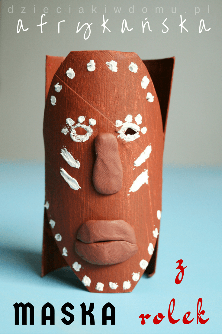 afrykańska maska - praca plastyczna dla dzieci
