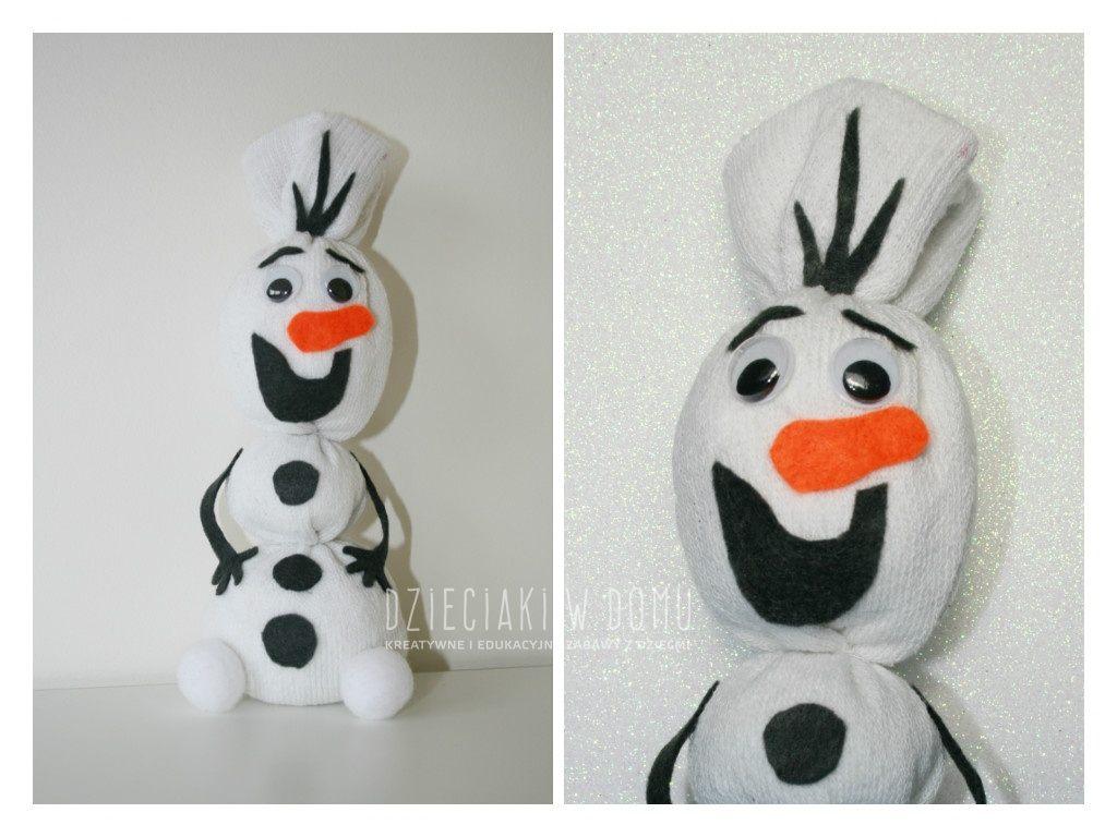 Olaf  – pluszowy przyjaciel ze skarpetki