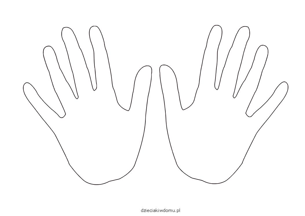 szablon dłoni