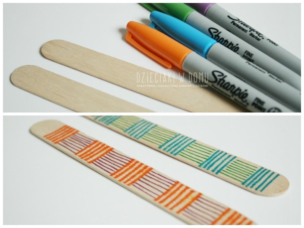 harmonijka z drewnianych patyczków - instrument dla dzieci