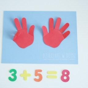matematyka na paluszkach - zabawa dla przedszkolaka