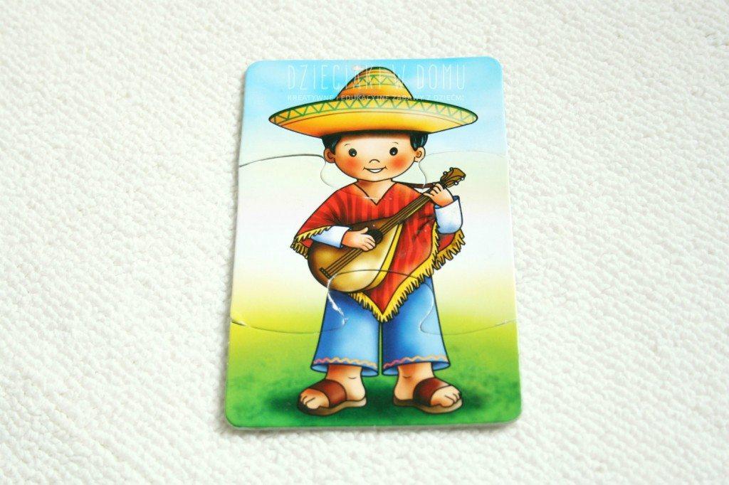 meksykanin - puzzle dla dzieci