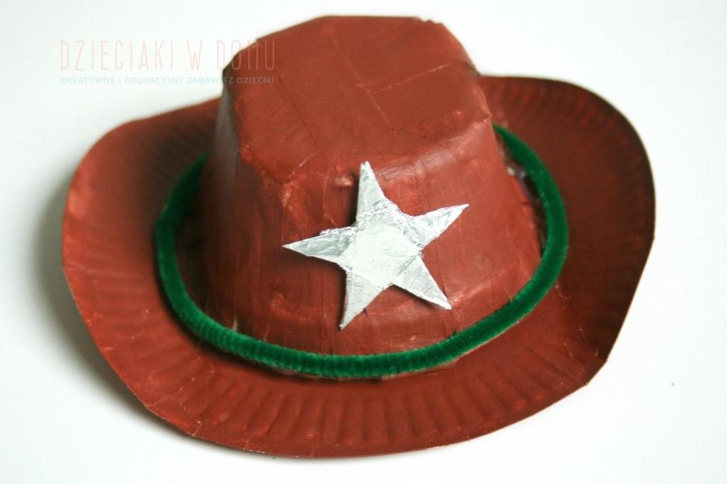 kapelusz kowboja - kreatywna praca dla dzieci