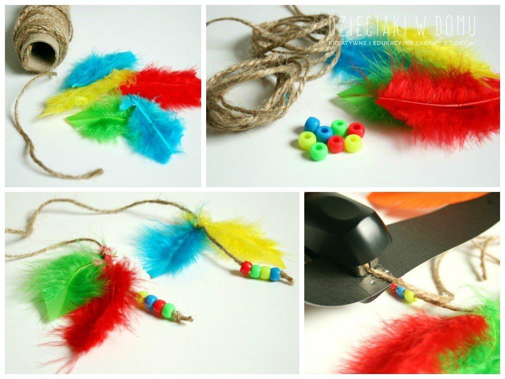 pióropusz indianina - praca kreatywna dla dzieci
