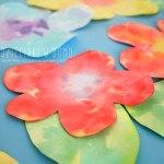 Kolorowe kwiatki z bibuły