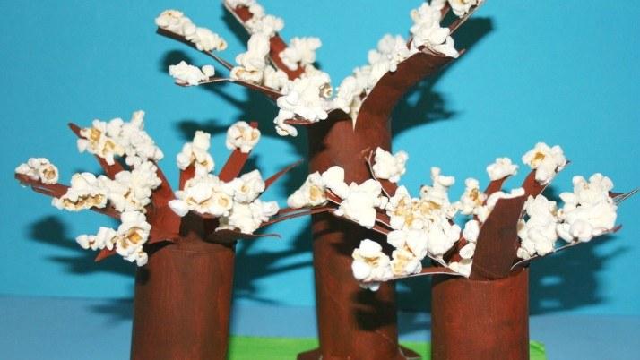Wiosenne drzewka z popcornu