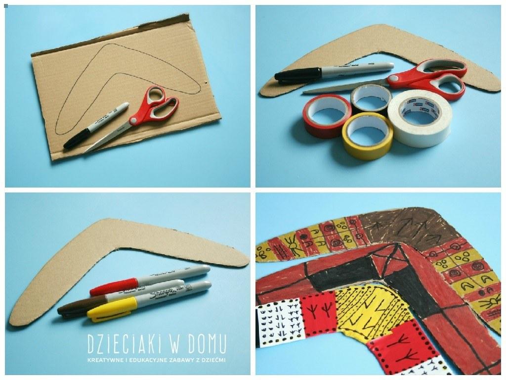 bumerang - kreatywna praca dla dzieci