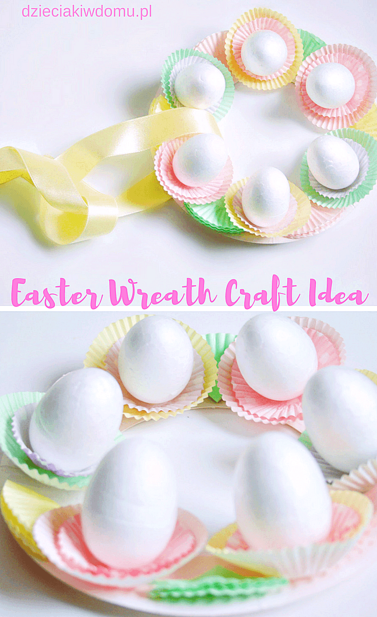 easter wreath craft idea