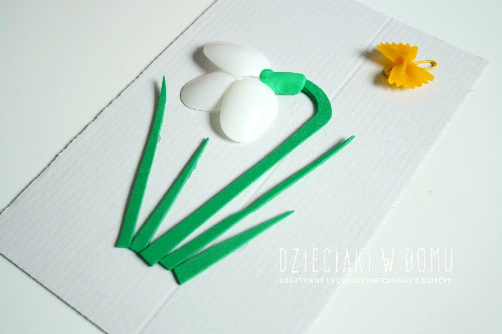 przebiśnieg - praca plastyczna