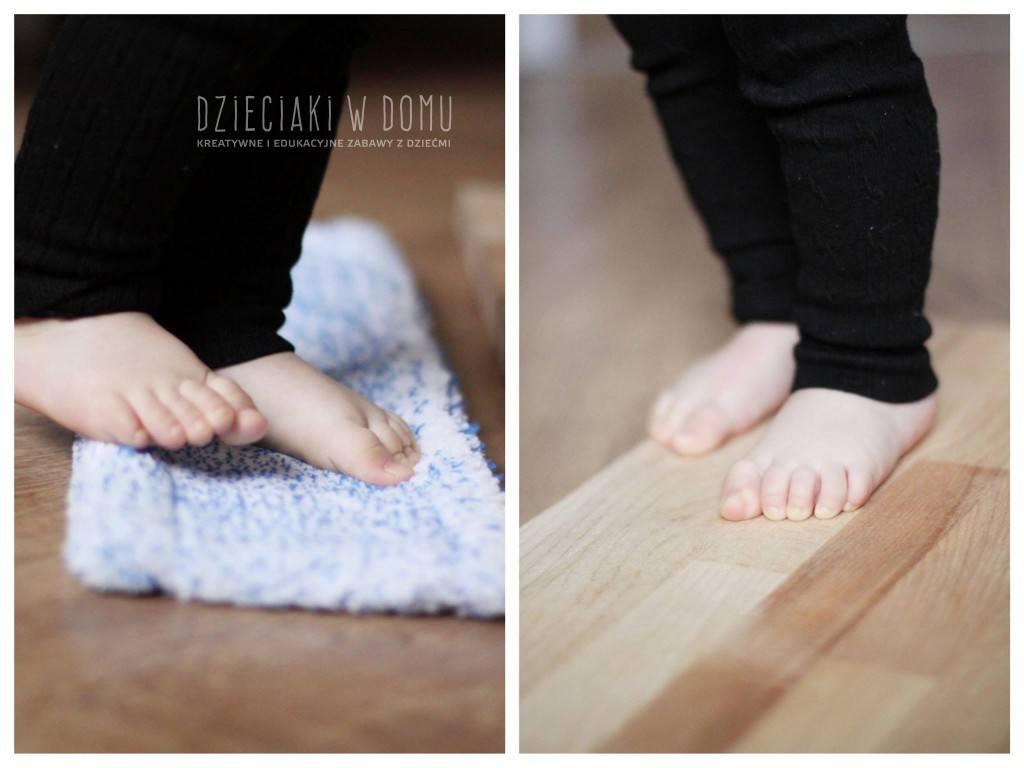 masaż stóp - zabawa sensoryczna dla dzieci