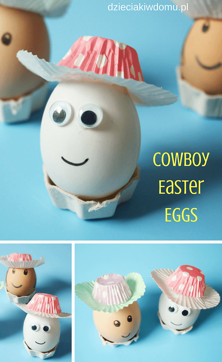 cowboy easter eggs craft idea for kids