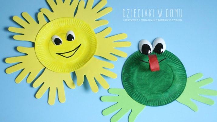 Słońce i żaba – twórczość z papierowych talerzyków