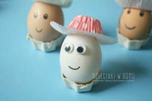 pomysł na pisanki - jaja w kapeluszu