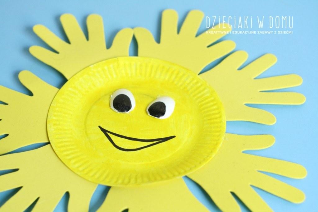 słońce z papierowego talerzyka