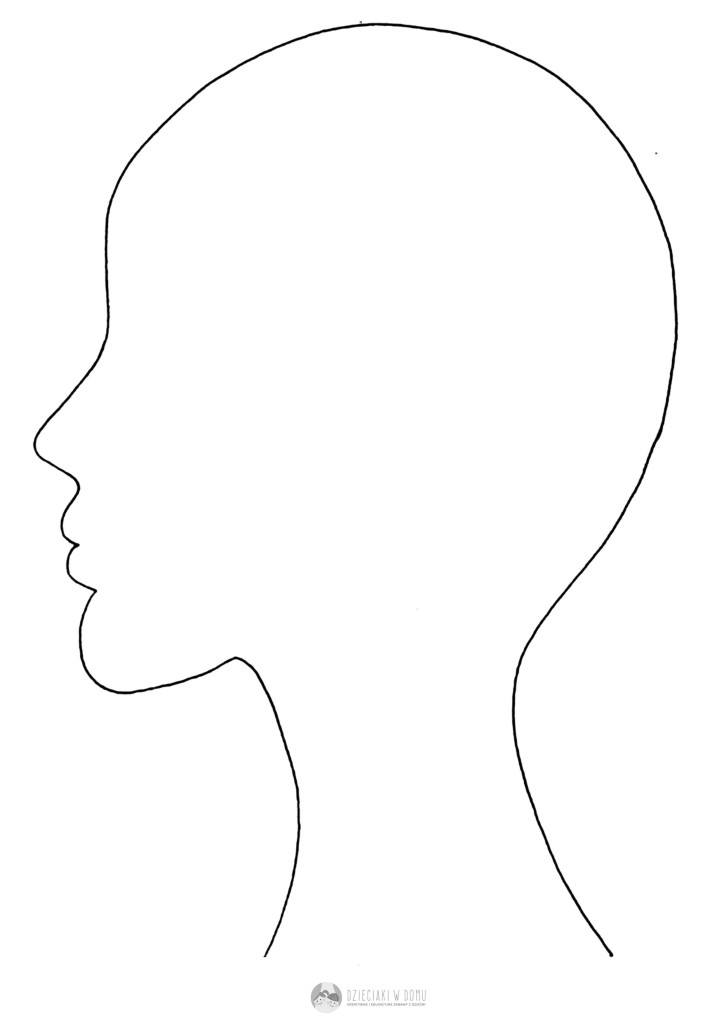 profil głowy szablon