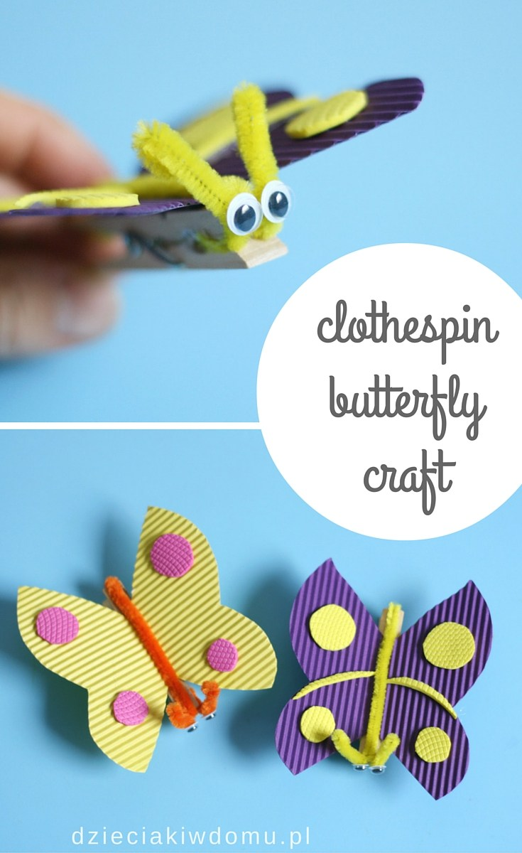 clothespin butterfly craft for kids