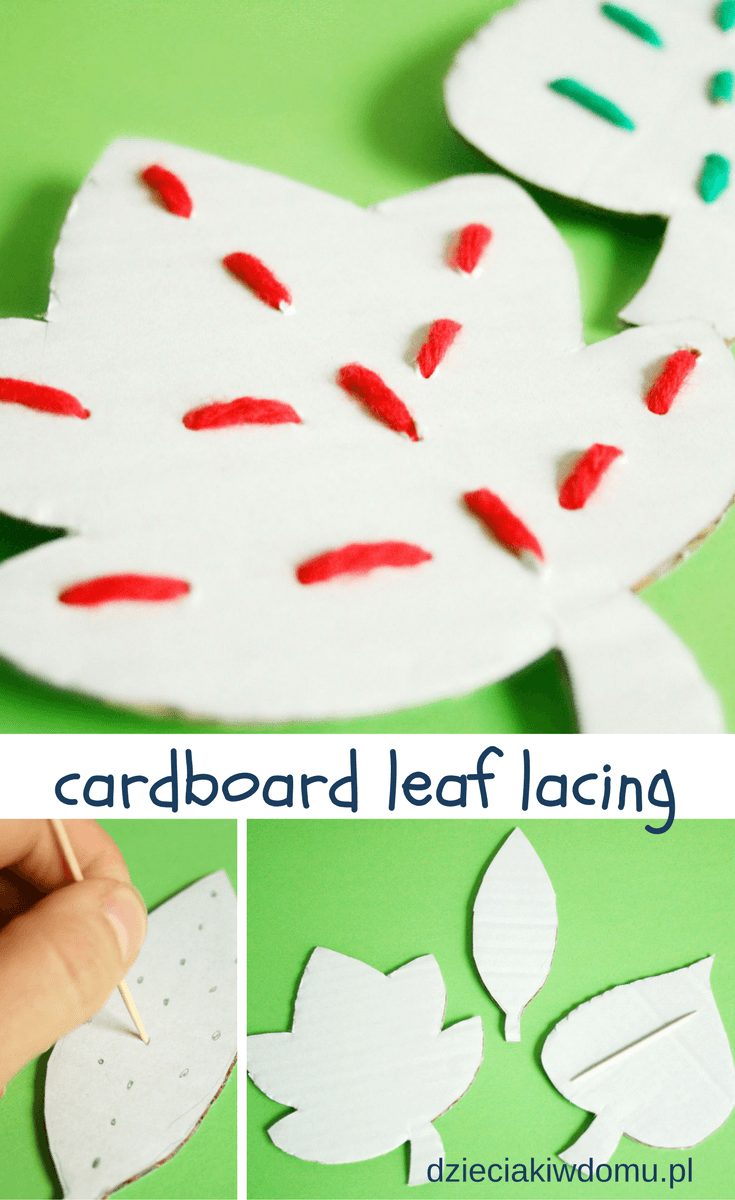 cardboard leaf lacing