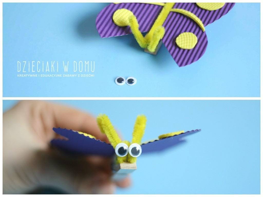 kreatywne motylki ze spinaczy