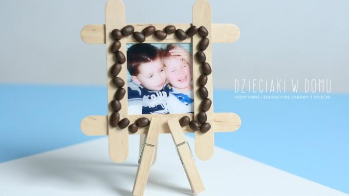 Ramka z patyczków – kreatywny prezent na dzień mamy i taty