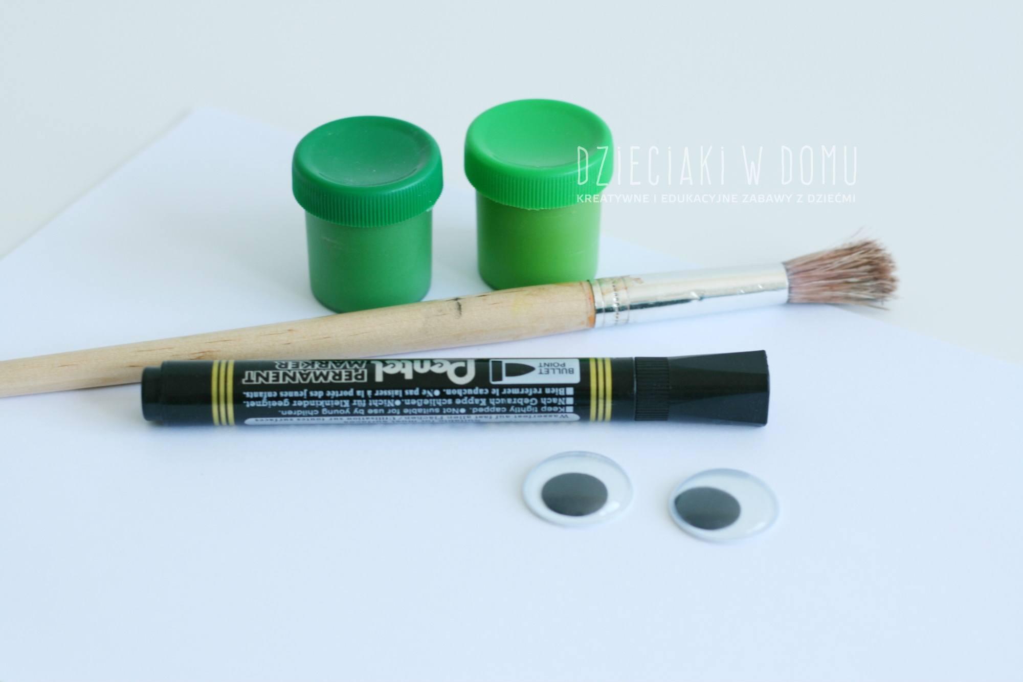 Krkodyl - praca plastyczna dla dzieci, malowanie stopą
