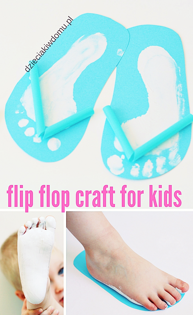 flip flop craft for kids