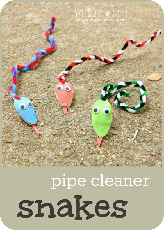 pipe cleaner snake craft for kids