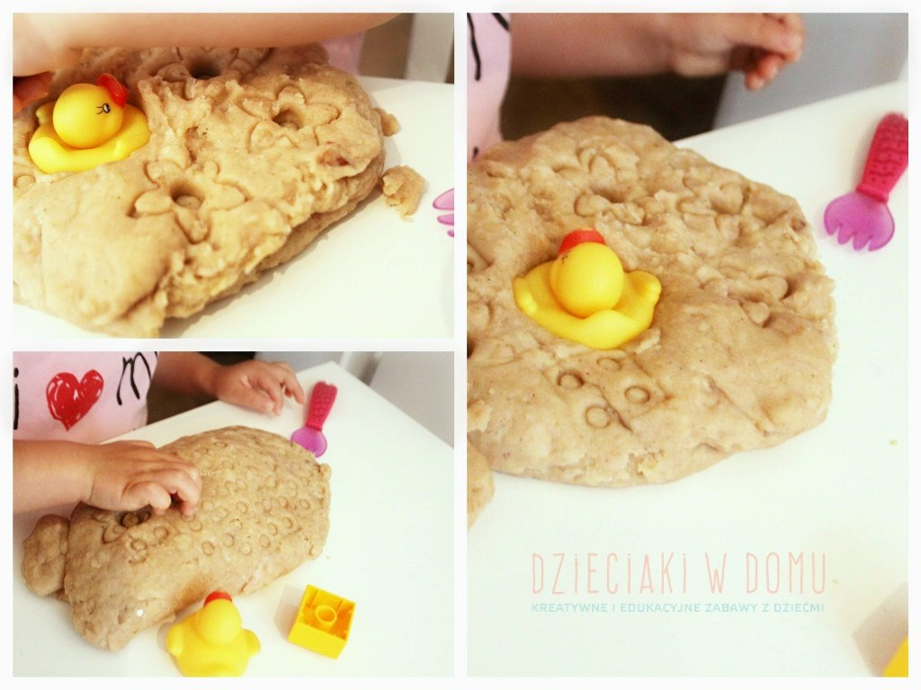cynamonowo - waniliowa ciastolina - zabawa dla dzieci
