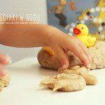 Cynamonowo – waniliowa masa dla małych rączek