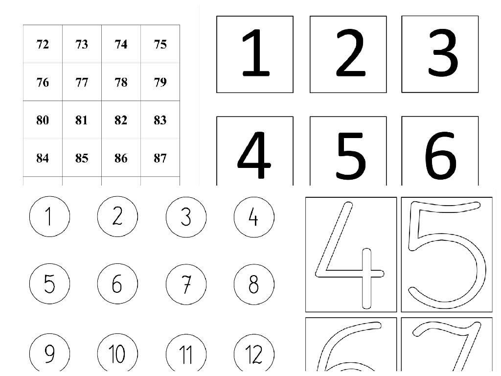 Cyfry i liczby – szablony